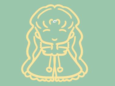 金发女孩简笔画图片教程