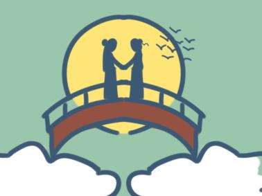 七夕鵲橋相會簡筆畫要怎么畫