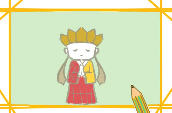 可爱的唐僧小学生简笔画要怎么画