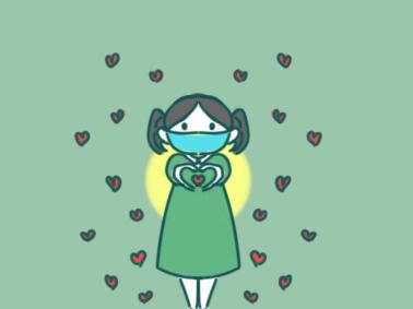 520比爱心的女孩简笔画图片教程