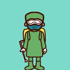 疫情前线的消毒人员简笔画要怎么画