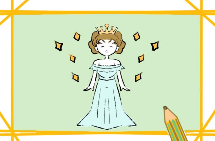 可愛的公主簡筆畫要怎么畫 兒童簡筆畫要怎么畫