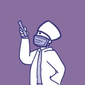 抗擊疫情的醫生簡筆畫要怎么畫