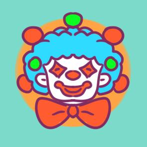 快乐的小丑简笔画要怎么画