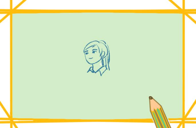 致敬的学生上色简笔画要怎么画