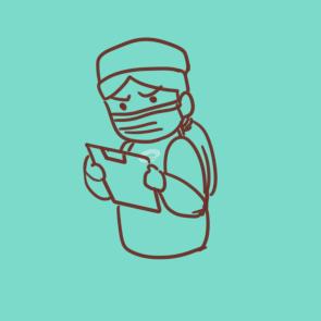 疫情前线的可爱护士的简笔画原创教程步骤 5068儿童网