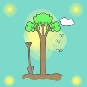 植树节的树简笔画要怎么画