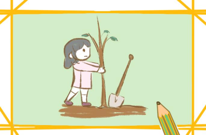 植樹節種小樹簡筆畫要怎么畫