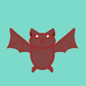传染源的蝙蝠简笔画原创教程步骤
