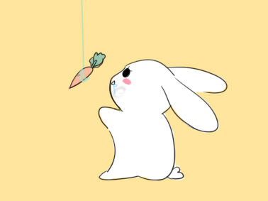 萌萌的小白兔简笔画怎么画