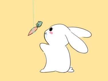 可爱的卡通兔子简笔画要怎么画