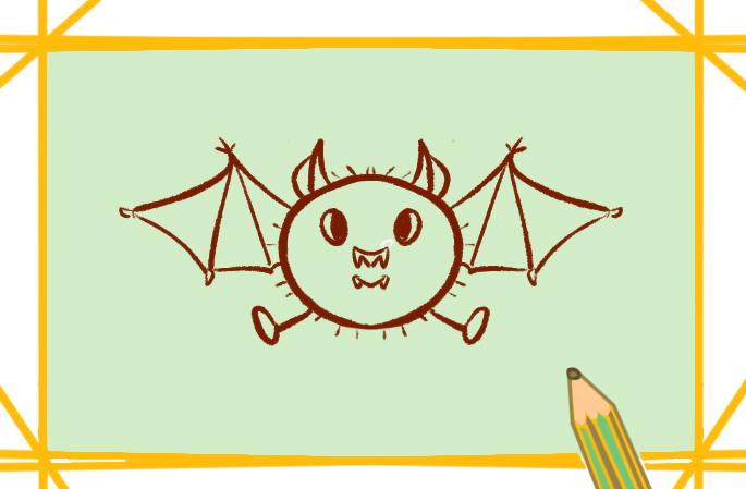 病毒宿主蝙蝠简笔画要怎么画