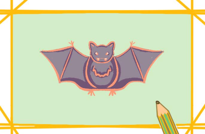 可怕的蝙蝠简笔画图片教程