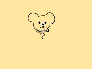 鼠年老鼠拜年簡筆畫怎么畫