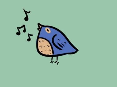 唱歌的小鸟儿童简笔画要怎么画