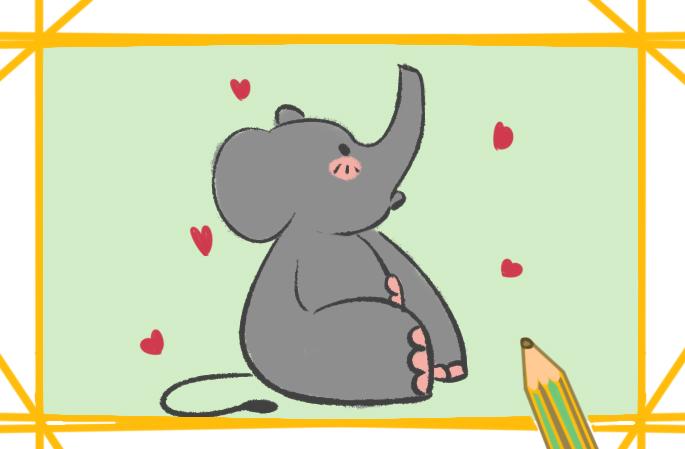 可愛的卡通小象簡筆畫圖片要怎么畫