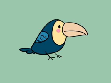 可爱的大嘴鸟简笔画要怎么画 大嘴鸟简笔画