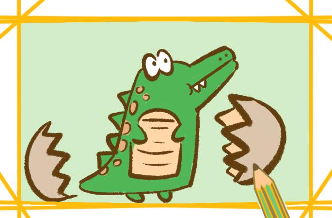 鳄鱼宝宝简笔画图片要怎么画