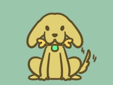 卡通小狗狗简笔画图片要怎么画