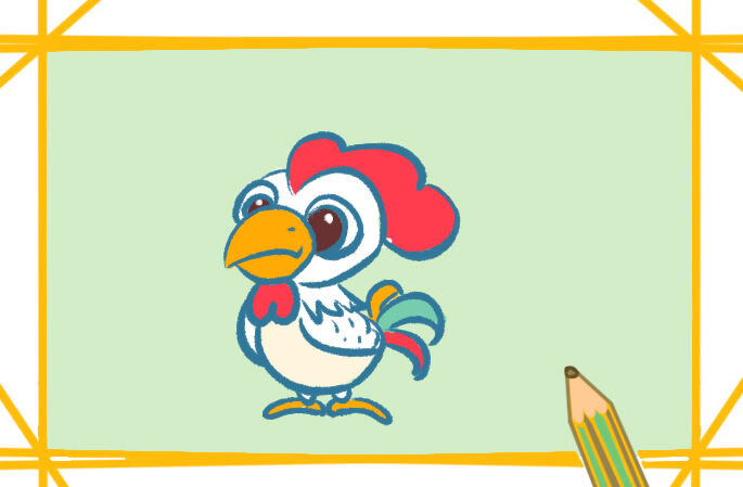 精神的大公鸡简笔画图片教程