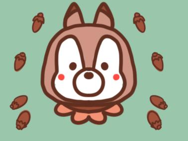 可爱的花栗鼠简笔画要怎么画