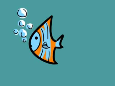 漂亮的海鱼简笔画要怎么画