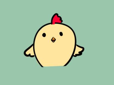 可爱的小鸡简笔画要怎么画