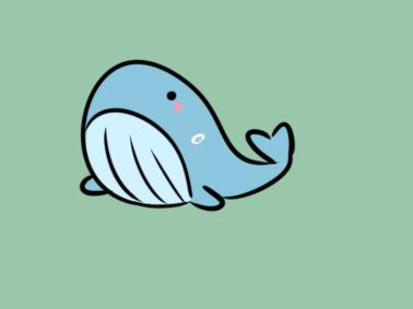 超简单的鲸鱼简笔画要怎么画