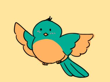 可爱的鸟简笔画要怎么画