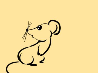 新年老鼠的简笔画怎么画
