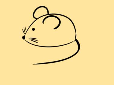 超簡單的老鼠簡筆畫步驟圖