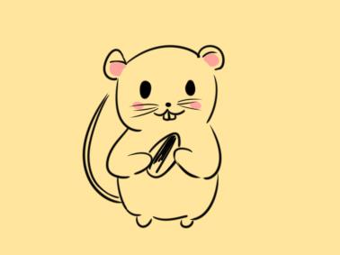 又簡單又好看的小老鼠簡筆畫怎么畫