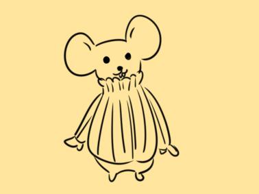 超簡單的穿毛衣的老鼠簡筆畫步驟圖