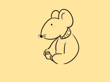 鼠年手抄報元素簡筆畫怎么畫