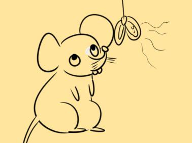 贪吃的老鼠简笔画手绘怎么画