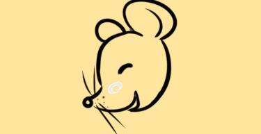 新年笑眯眯的老鼠简笔画怎么画