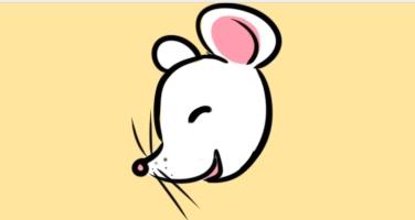 新年笑瞇瞇的老鼠簡筆畫怎么畫
