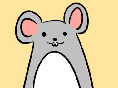 超簡單的小灰鼠簡筆畫步驟圖