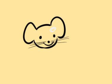 超簡單的漂亮的老鼠簡筆畫步驟圖