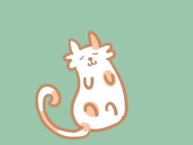 卡通猫咪简笔画要怎么画