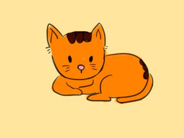 小学生画橘猫简笔画要怎么画