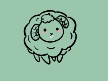 好看的绵羊简笔画原创教程步骤 5068儿童网