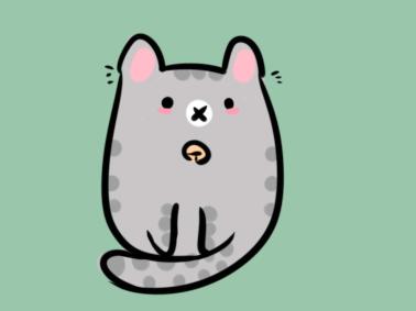 卡通猫猫简笔画要怎么画