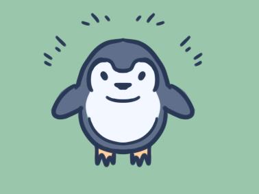 卡通企鹅简笔画要怎么画