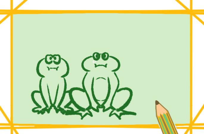 简笔画小青蛙图片-画小青蛙简笔画图片