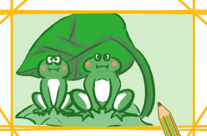 神气的青蛙简笔画图片教程
