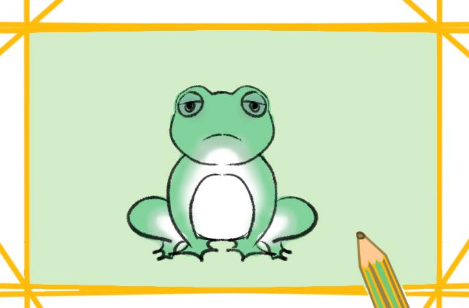 绿色的青蛙简笔画要怎么画