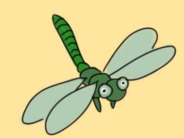 昆虫之蜻蜓简笔画要怎么画