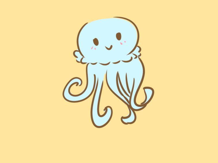漂亮的水母簡筆畫怎么畫