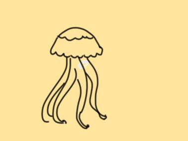 海底的水母简笔画原创教程步骤 5068儿童网